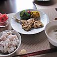 アジのお麩香草焼き